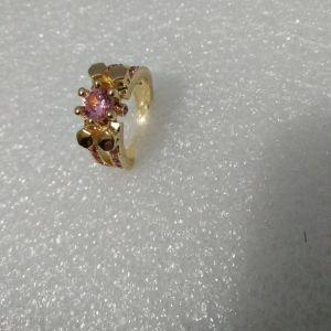 Δαχτυλιδι Με ροζ Πετρα