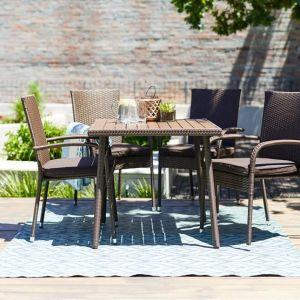 Τραπέζι από ατσάλι και ανθεκτικό τεχνητό ξύλο