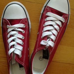 Sneakers Τύπου All Star Μπορντό Tsoukalas No.37