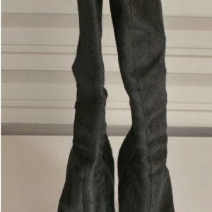 Μπότες Μπουρνάζος με τακουνι 7αρι από pony skin