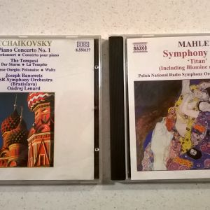CDs ( 2 ) Mahler Symphony No.1 & Tchaikovsky Piano Concerto No.1