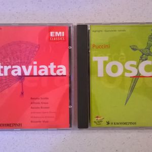 CDs ( 2 ) La traviata - Tosca