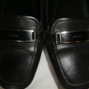 PRADA  LEATHER SHOES no 38