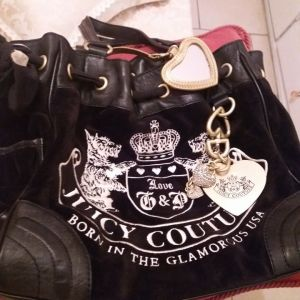 Juicy Couture Daydreamer Black Scottie Dog bag Authentic