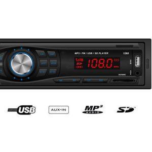 Player Αυτοκινήτου με Radio-USB-SD-AUX και τηλεχειριστήριο ΟΕΜ  1280