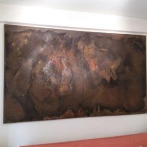 Πίνακας - σπηλαιογραφία της Altamira από τον Γρηγόρη Λαγό