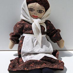 Vintage Πάνινη Παραδοσιακή Κούκλα