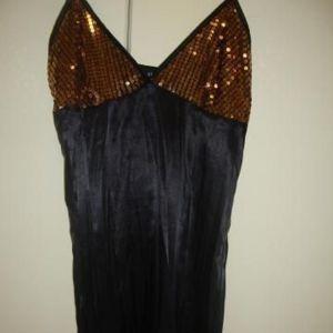 Φορεμα σατεν με πουλιες ολοκαινουργιο νο medium