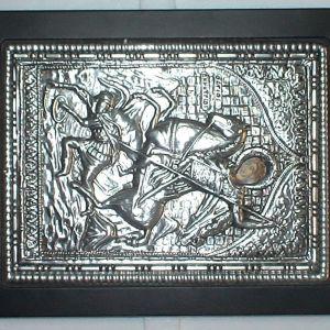 Ασημένια εικόνα Αγίου Δημητρίου