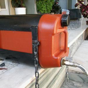 Δοχείο νερού με βάση και βρύση για φορτηγό