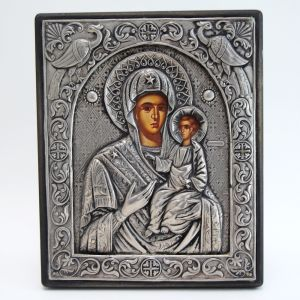 Ασημένια Εικόνα 950 Παναγία με Θείο Βρέφος