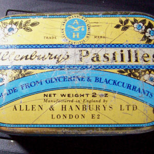Μεταλλικό κουτάκι Εγγλέζικο περιπου του 1960 Allenbury's Pastilles