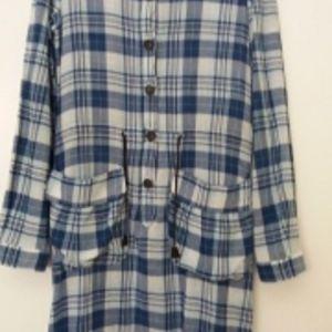 benetton μπλουζοφορεμα-πουκαμισα