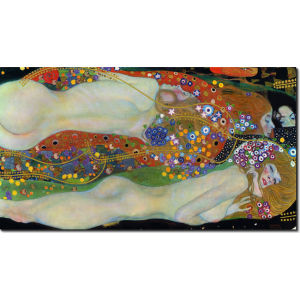 Πίνακες ζωγραφικής Water serpents by Klimt 50 Χ 90 εκ.