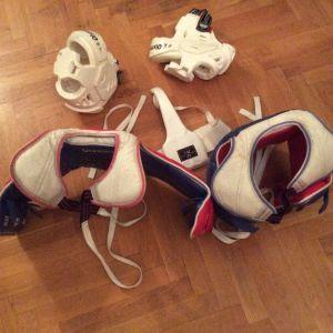 Προστατευτικός θώρακας και κάσκα Taekwondo
