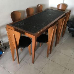 Μεγάλο Τραπέζι Τραπεζαρίας με 8 Καρέκλες