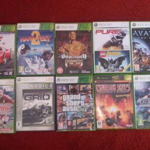 Xbox 360 τηλεχειριστήριο  και παιχνιδια