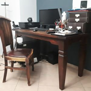 Τραπέζι-γραφείο ρουστίκ ινδικό