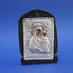 Ασημένια Εικόνα Παναγία με Μικρό Ιησού Χριστό