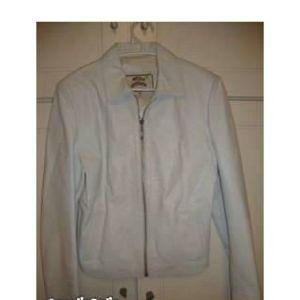 Δερματινο σακακι λευκο no small ολοκαινουργιο