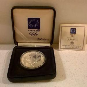 Ασημένιο Νόμισμα 10 ΕΥΡΩ Ολυμπιακοί Αγώνες Αθήνα 2004