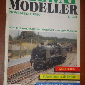 Railway Modeller Magazine Ολα-12-τα τευχοι του1990