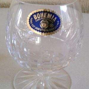 Κρυστάλλινα ποτήρια από κρύσταλλο Βοημίας σκαλιστά κωδ2