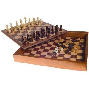 τάβλι-Ντάμα - Σκάκι σε ξυλινο κουτι σφραγισμενο