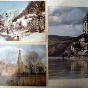 (3) Τρεις αφίσες από παλαιό Γερμανικό ημερολόγιο.