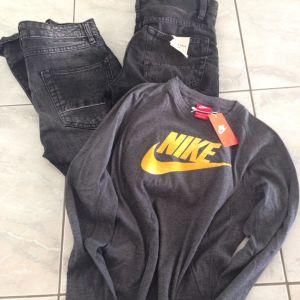 2 τζην zara & μπλουζα Nike ολοκαινουργια  για 12-13 ετων