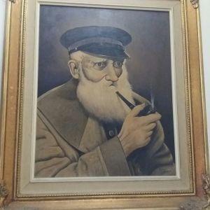 Πίνακας παλιός με χρυσή κορνίζα