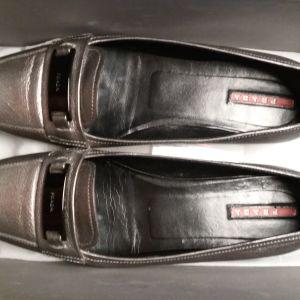 Δερμάτινα γυναικεία παπούτσια PRADA, Μέγεθος 38