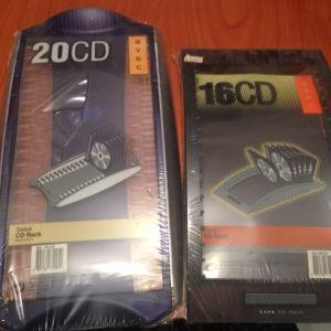 2 θηκες αποθηκευσης για 20 & 16 Cd σφραγισμενες
