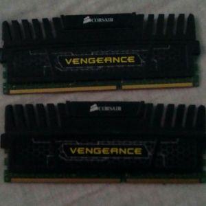 2 Μνημες DDR3 ram corsair vengeance 4GB (1x4GB) 1600Mhz