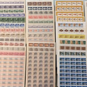 53 διαφορετικα φυλλα γραμματοσημων lux περιοδου 1916-1978