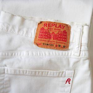 Παντελόνι REPLAY Λευκό, Small