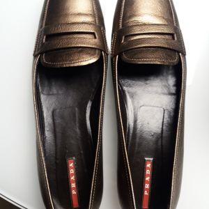 Δερμάτινα Γυναικεία Παπούτσια PRADA , μέγεθος 38
