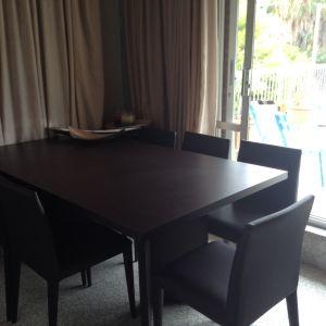 Τραπεζαρία wenge με 6 καρέκλες και τραπεζάκι σαλονιου