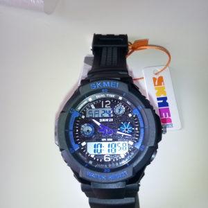 Ρολόϊ SKMEI Dual Time Black - Blue