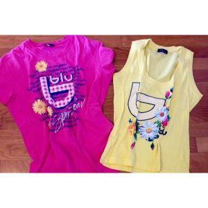 2 μπλούζες byblos για 13-15 χρώμα φούξια και κίτρινη όλα 6 ευρω