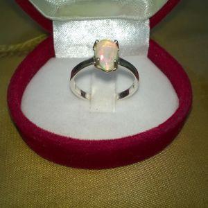 Ασημένιο δαχτυλίδι μονόπετρο