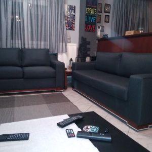 Σαλόνι τριθέσιο και διθέσιο καναπέ