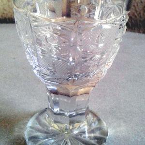Κρυστάλλινα ποτήρια από κρύσταλλο Βοημίας σκαλιστά ύψους 9 cm κωδ 03