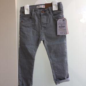 New with tag - Zara Baby Grey Skinny Jeans 12/18 Months