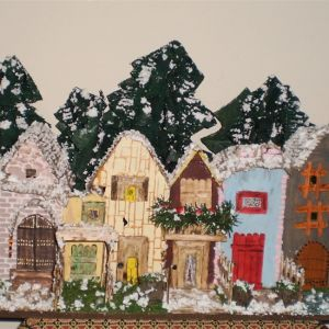 Χριστουγεννιάτικο χωριό με φωτάκια (χειροποίητο)